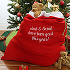 Personalized Santa Claus Red Toy Sack