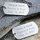 Personalized Couple's Dog Tag Set