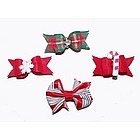 Christmas Dog Hair Bow Barrettes