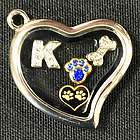 Dog Memorial Locket with Charms