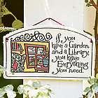 Library Garden Sign