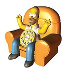 Homer Simpson Animated Talking Phone