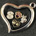 Cat Pet Loss Locket with Charms