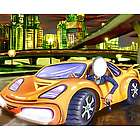 Sports Car Caricature from Photos Art Print