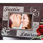 Engraved Couples Glass Frame