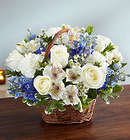 Large Peace, Prayers & Blessings Bouquet in Blue & White