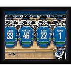 Personalized NHL Vancouver Canuks Locker Room Print