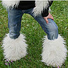 Faux Fur Girls Legwarmers or Boot Covers