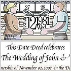 Dedicate a Day Personalized Wedding Certificate
