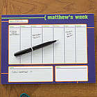 His Weekly Agenda Personalized Calendar Pad
