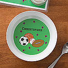 Personalized Boy's Sports Dinner Bowl