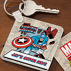 Personalized Marvel Comics Superhero Key Ring