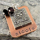 Smile You Graduated Hand Stamped Necklace