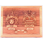 Wedding Plaque Family Crests