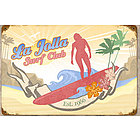 La Jolla Surf Club Metal Sign