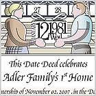 Dedicate a Day Personalized Housewarming Certificate