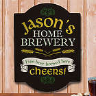 Personalized Home Brewery Wall Sign