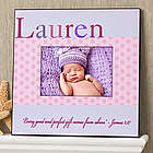 Personalized Baby Girl Just for Them Picture Frame