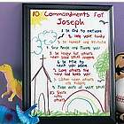 Personalized Kid's Ten Commandments Plaque