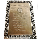 Irish Baby Blessing Plaque