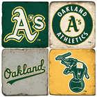 Oakland Athletics Marble Coaster Set
