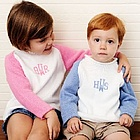 Two Color Raglan Sweater with Monogram