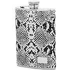 Engraved 8 Ounce Snakeskin Design Flask
