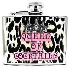 Zebra Queen of Cocktails Flask