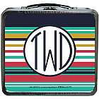 Monogram Stripe Design Lunch Box