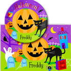 Personalized Halloween Plate and Placemat Set