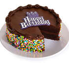 6-Inch Chocolate Happy Birthday Cake