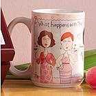 Personalized What Happens with the Girls Mug