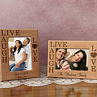 Personalized Live, Love, Laugh Wooden Picture Frame