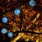 Hand-Blown Glass Solar String Lights