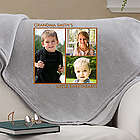 Picture Perfect 3 Photo Personalized Sweatshirt Blanket