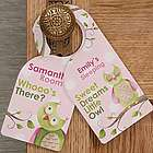Girl's Owl About You Personalized Door Hanger
