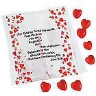 Valentine Verse Bag with Gummy Hearts