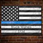 Police Officer's Personalized Proud to Serve US Flag Wall Art