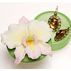 White Cattleya Orchid Keepsake Box