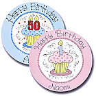 Personalized Number Candle Birthday Cupcake Plate