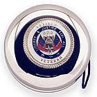 Personalized Retired Veteran Nickel-Plated Yo-Yo