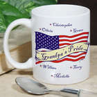 Personalized US Flag American Pride Coffee Mug
