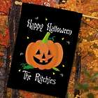 Personalized Halloween Pumpkin House Flag