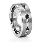 Forge Tungsten & Black Diamond Men's Ring