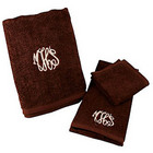 Personalized Brown Towel Set