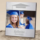 Engraved Class of Graduation Silver Picture Frame