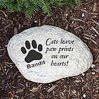 Engraved Cat Memorial Garden Stone