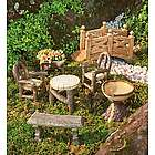 Woodland Fairy Garden Resin Furniture Set