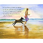 Beachside Jogging Personalized Fine Art Print