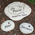 Engraved United Family Garden Stone